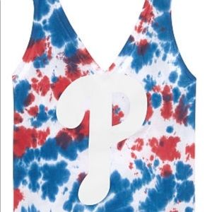 VS PINK Philadelphia Phillies Tied Dye Tank Top